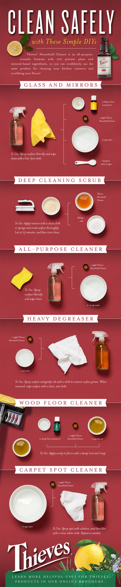 Thieves Household Cleaner from Young Living Infographic